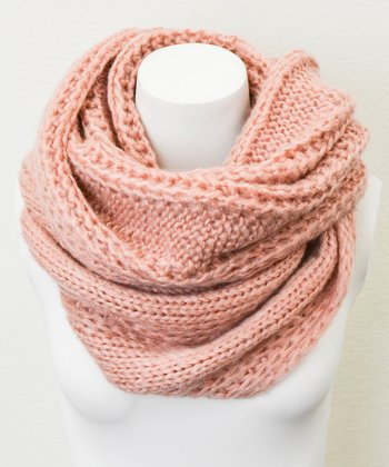 Leto Collection Rose Cable Knit Infinity Scarf