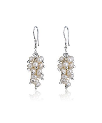 White Pearl Azalea Earrings