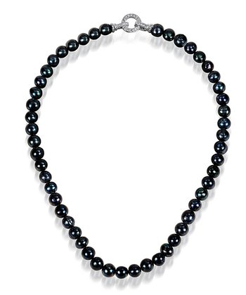 Black Pearl & Crystal Lulu Necklace