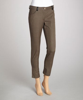 Charcoal Plaid Skinny Pant