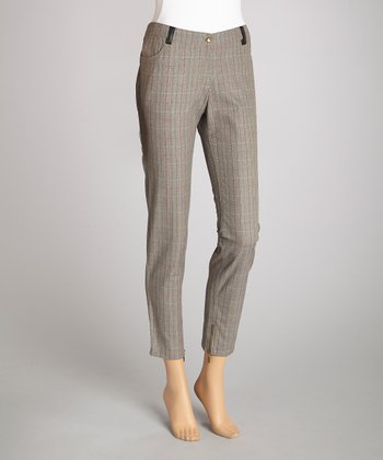 Gray Plaid Skinny Pant