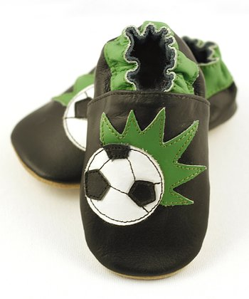 Black & Green Soccer Booties