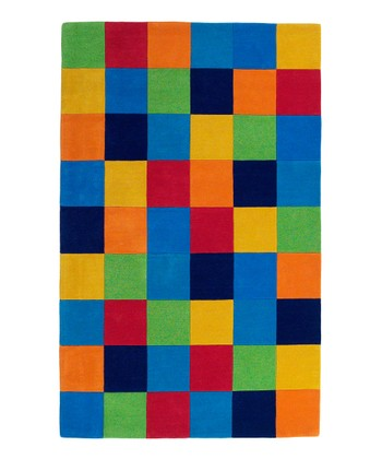 Color Block Kolorful Kidz Wool Rug