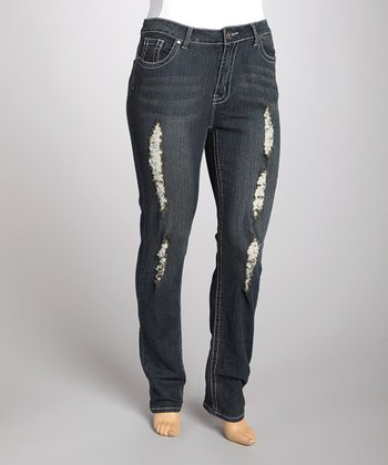 Antique Wash Skinny Jeans - Plus