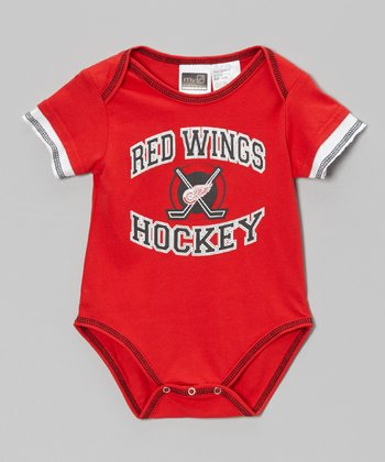 Red Detroit Red Wings Bodysuit - Infant