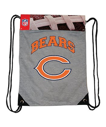 Gray Chicago Bears Practice Drawstring Backpack