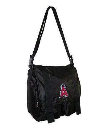 Los Angeles Angels Black Sitter Diaper Bag