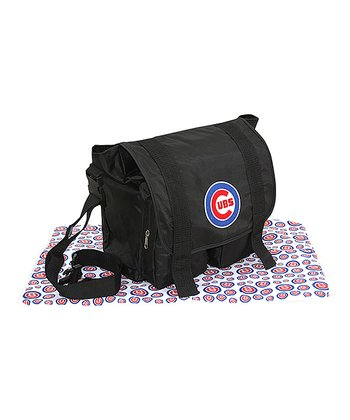 Black Chicago Cubs Sitter Diaper Bag