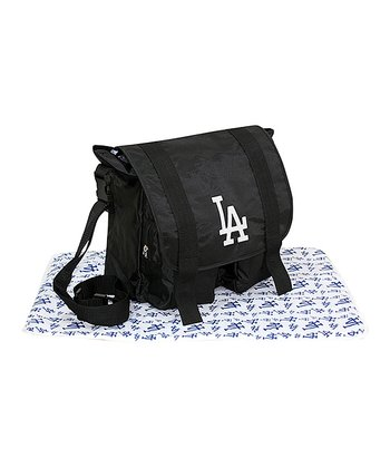 Black Los Angeles Dodgers Sitter Diaper Bag