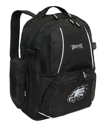 Black Philadelphia Eagles Trooper Deluxe Backpack
