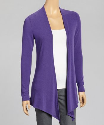 Purple Texas Christian Open Cardigan - Women