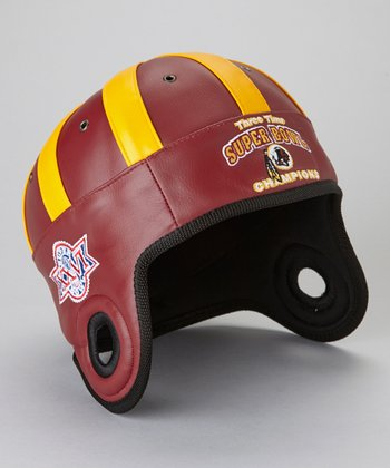 Maroon Washington Redskins Commemorative Faux Leather Cap