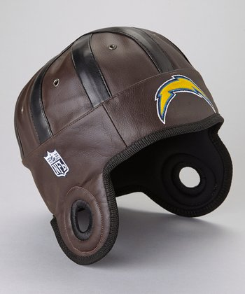 Brown San Diego Chargers Faux Leather Cap