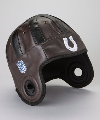 Brown Indianapolis Colts Faux Leather Cap