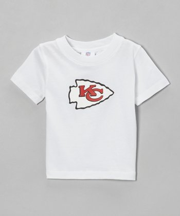 White Kansas City Chiefs Haney Tee - Toddler