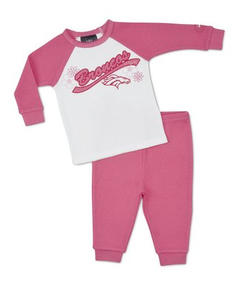 Pink Denver Broncos Thermal Tee & Pants - Infant