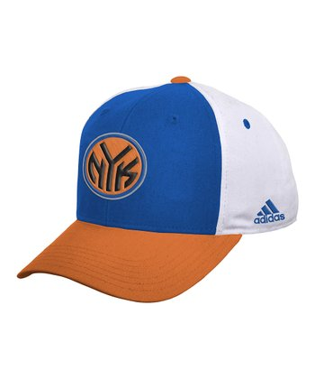 Orange & Blue Color Block Knicks Baseball Cap
