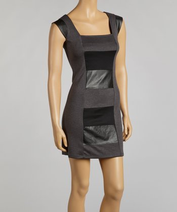 Gray & Black Color Block Sleeveless Dress