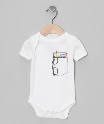 White Pocket Protector Organic Bodysuit - Infant