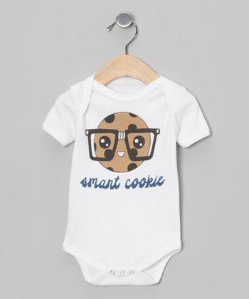 Morado Designs White Smart Cookie Organic Bodysuit - Infant