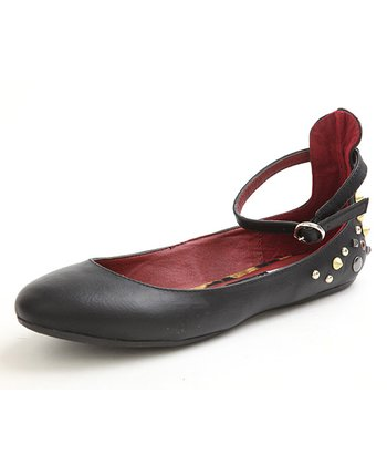 Black Laura Ankle Flat