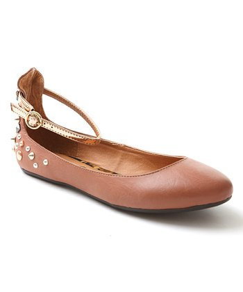 Rose Gold Laura Ankle Flat