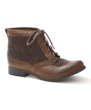 Dark Lace Brown Bonsai Ankle Boot