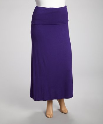 Purple Strapless Dress - Plus