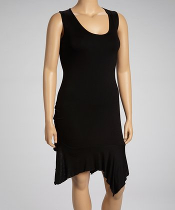 Black Sleeveless Tunic - Plus
