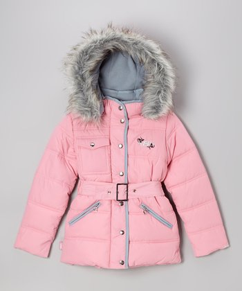 Light Pink Cargo Coat - Girls