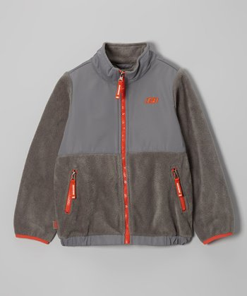 Charcoal Arctic Fleece Transweight Jacket - Boys