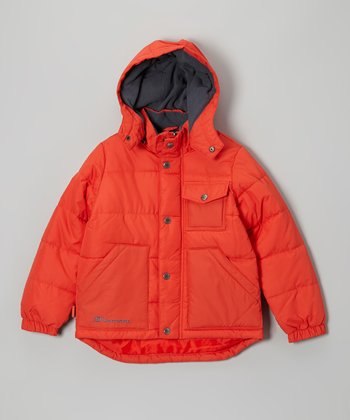 Burnt Orange Heavyweight Microfiber Jacket - Boys