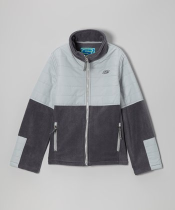 Dove Gray Classic Arctic Fleece Transweight Jacket - Boys