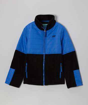 Royal Blue Classic Arctic Fleece Transweight Jacket - Boys