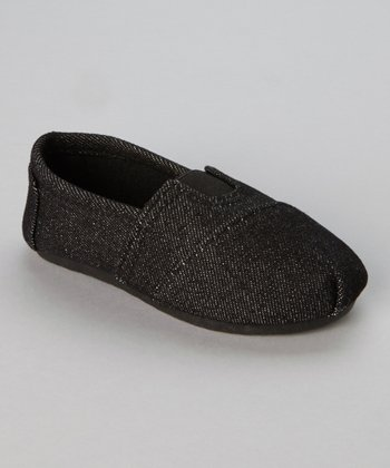 Denim Black Wrapped Panel Slip-On Shoe