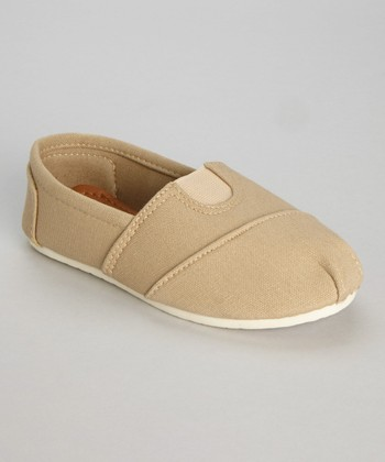 Khaki Wrapped Panel Slip-On Shoe
