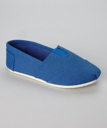 Royal Blue Wrapped Panel Slip-On Shoe