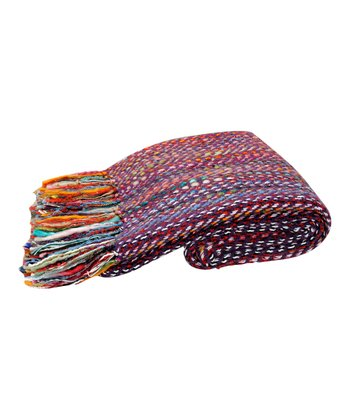 Rainbow Wool Throw