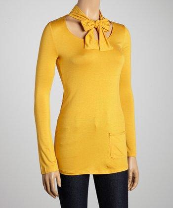 Mustard Necktie Top