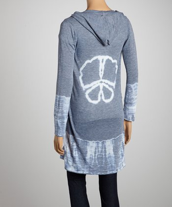 Blue Peace Hooded Duster