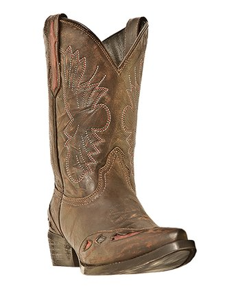 Little Kid Brown & Cognac Cowboy Boot - Kids