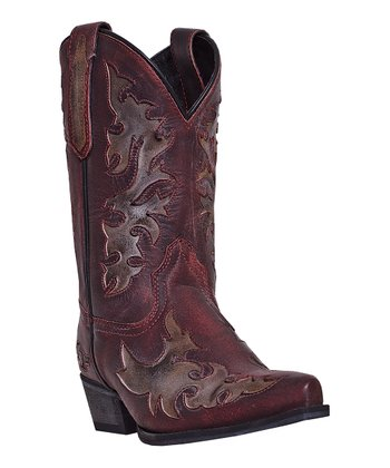 Red Stormy Night Cowboy Boot
