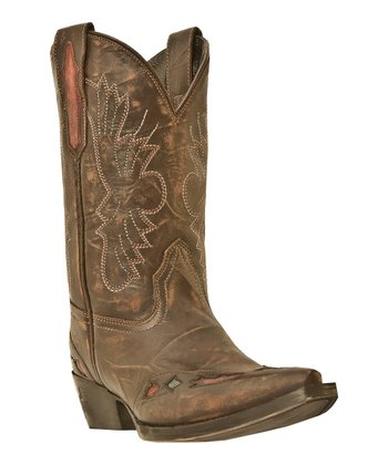 Big Kid Brown & Cognac Cowboy Boot - Kids
