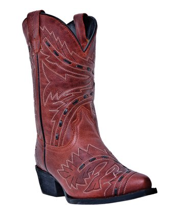 Big Kid Red Sidewinder Lace Cowboy Boot - Kids