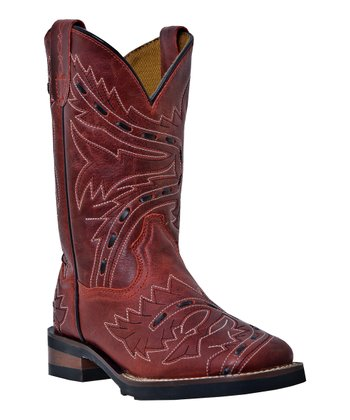 Big Kid Red Sidewinder Bucklace Cowboy Boot - Kids