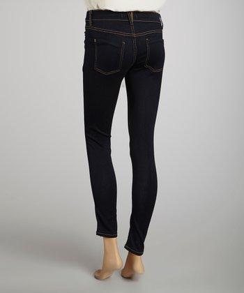 Dark Blue Pocket Skinny Jeans