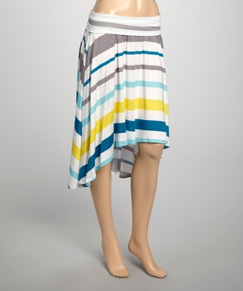 Seaside Stripe Barrington Hi-Low Skirt