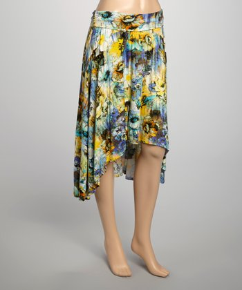 Watercolor Garden Barrington Hi-Low Skirt
