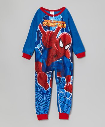 Royal Blue & Red Spiderman Pajamas - Boys