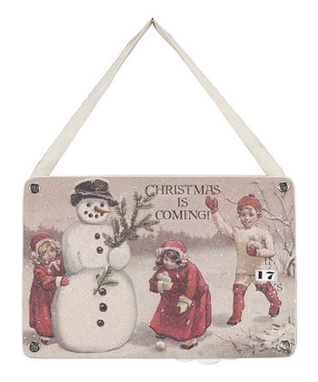Snowball Kids Christmas Countdown Ornament